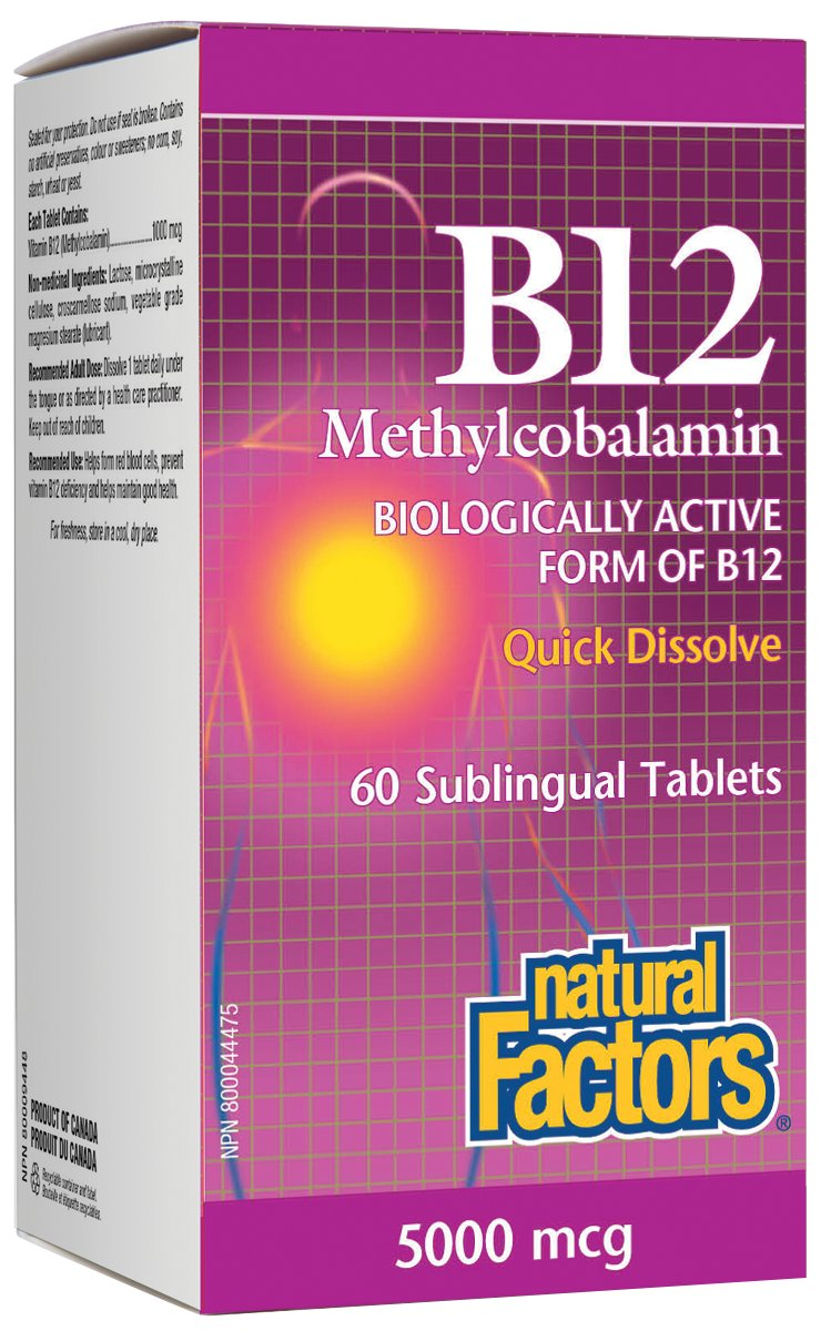 5000 Mcg Methylcobalamin B12 Supplement Helps Those With Severe B12 Deficiency