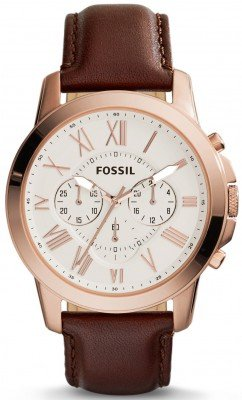 Fossil Grant Chronograph Brown Leather FS4991 Mens Watch: Overall Classy But Packed With Twists