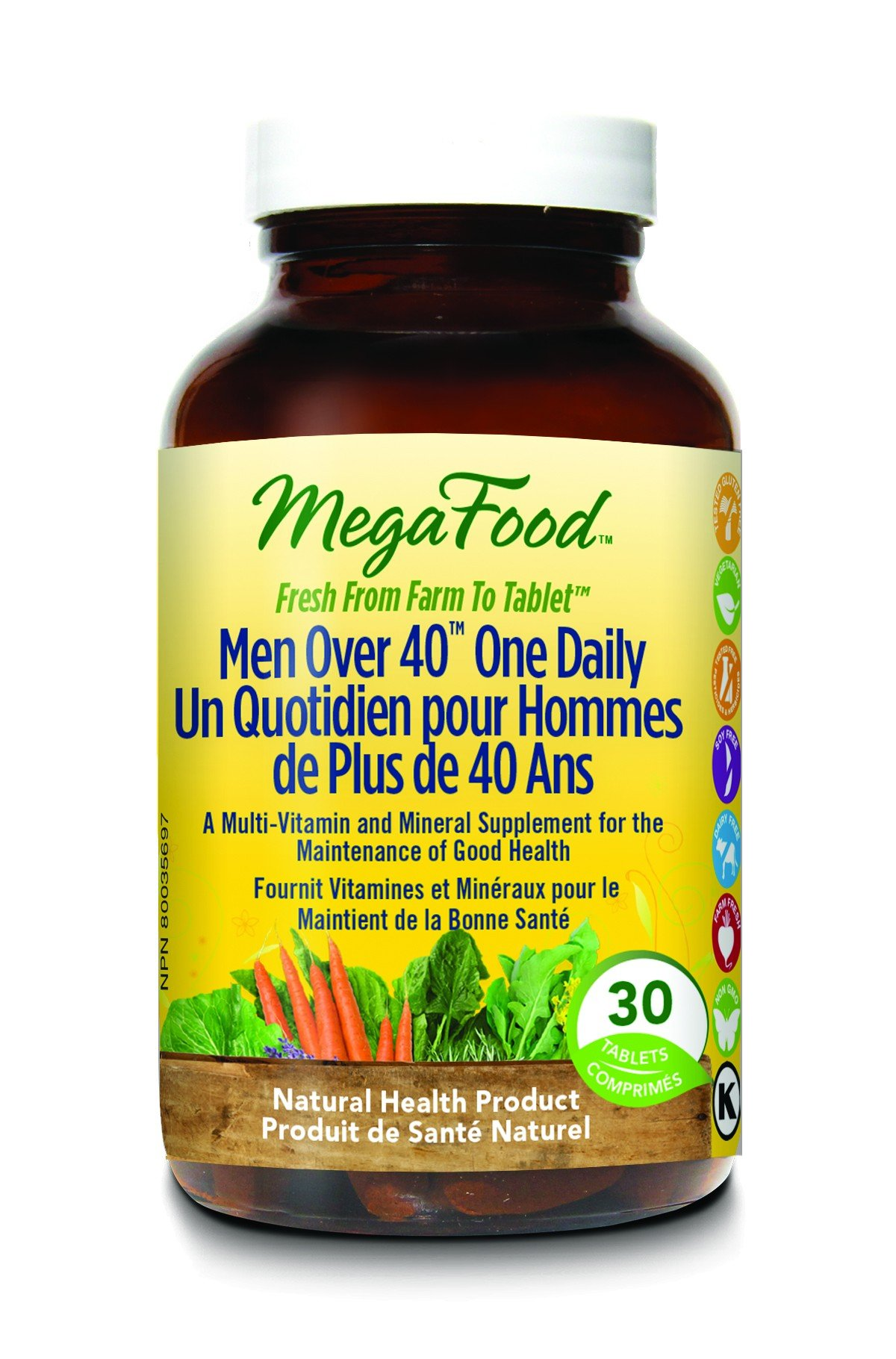 MegaFood Men Over 40 One Daily One Daily: A Man's Good Friend