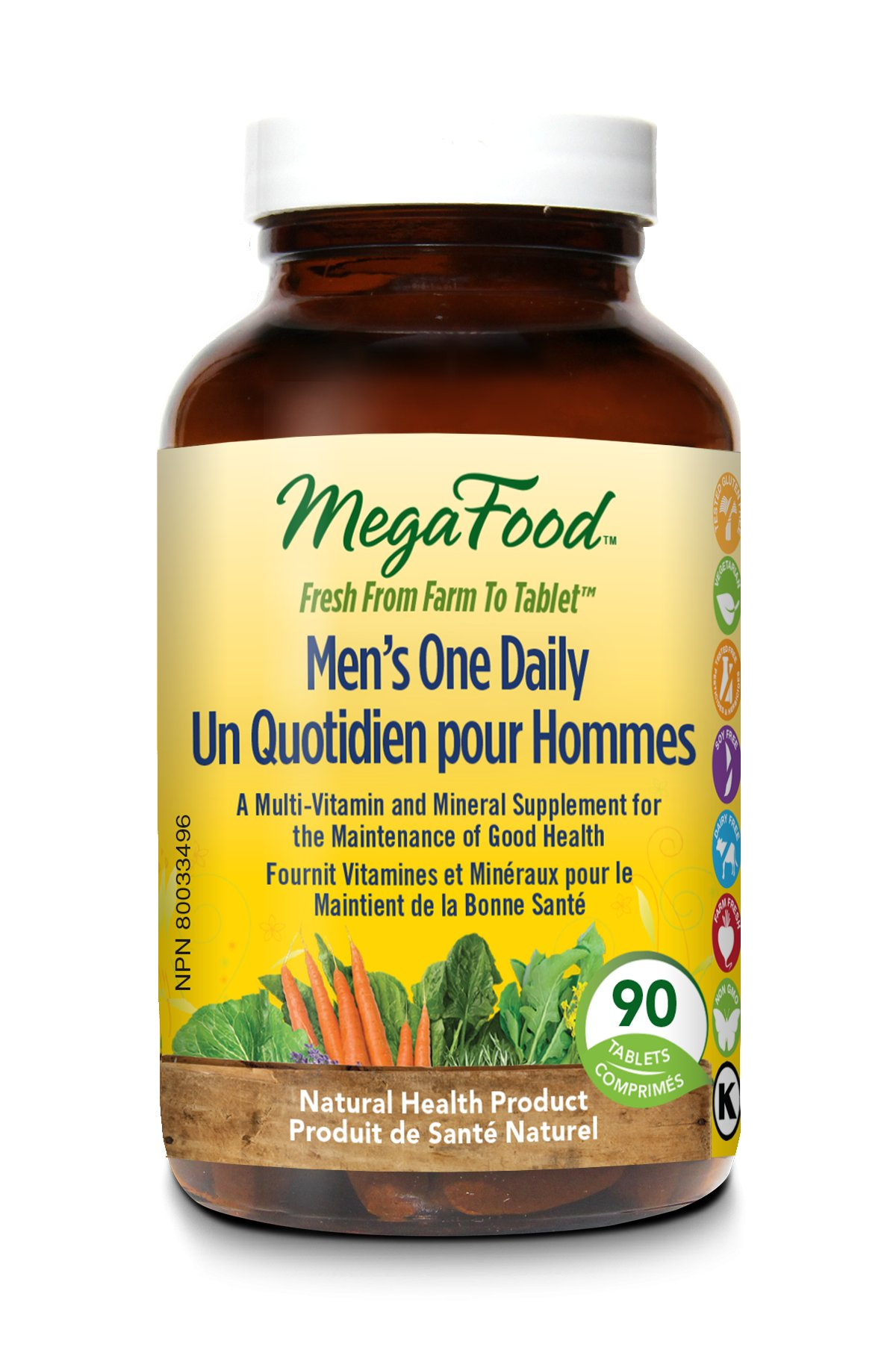MegaFood Men's One Daily Helps Men Feel Healthier