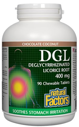 Solve Your Stomach Issues Naturally With Natural Factors DGL Licorice Root Extract!