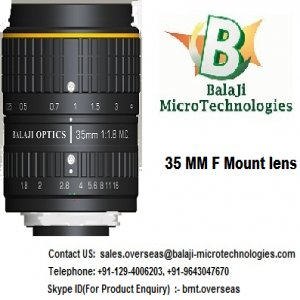 "35 MM & 50 MM LARGE FORMAT MACHINE VISION LENS - ""BALAJI OPTICS�"